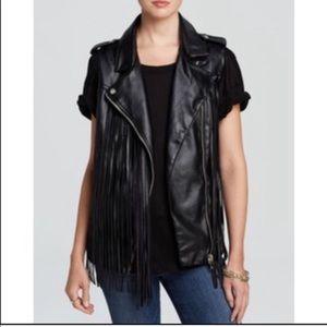 Blank NYC Faux Leather Fringe Vest